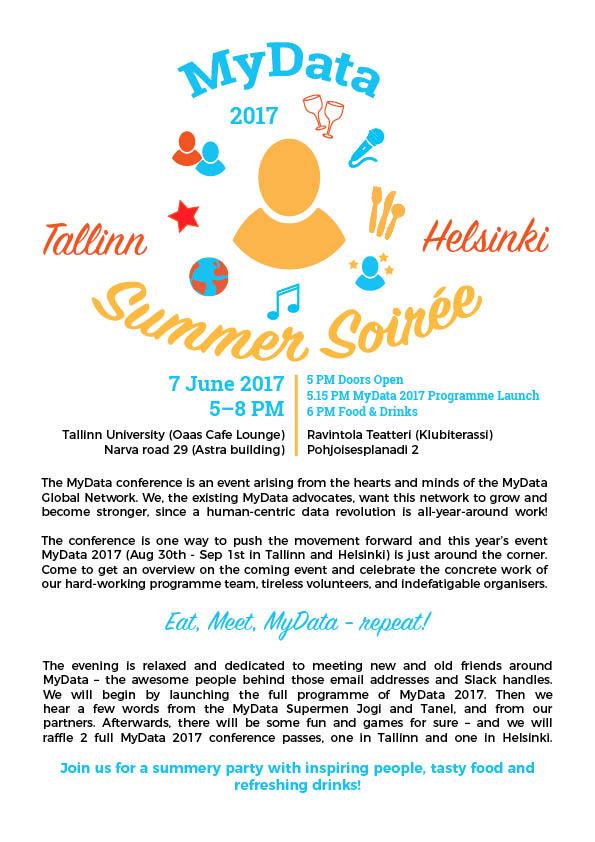MyData Summer Soiree Party invitation